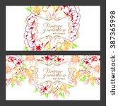 vintage delicate invitation... | Shutterstock .eps vector #387365998
