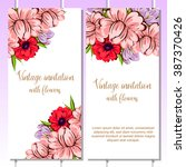 invitation with floral...   Shutterstock .eps vector #387370426