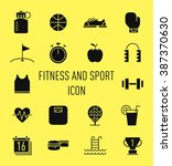 set of fitness and sport icon