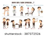 how hiv and aids transmitted... | Shutterstock .eps vector #387372526