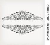 vector vintage floral ... | Shutterstock .eps vector #387375880