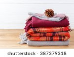 winter fashion clothing with... | Shutterstock . vector #387379318