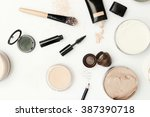 top view of different cosmetics ... | Shutterstock . vector #387390718