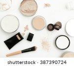 top view of different cosmetics ... | Shutterstock . vector #387390724