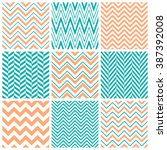 set of chevron seamless patterns | Shutterstock .eps vector #387392008