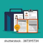 human resources icon design  | Shutterstock .eps vector #387395734