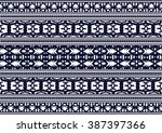 geometric ethnic pattern design ... | Shutterstock .eps vector #387397366