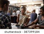 african woman entrepreneur... | Shutterstock . vector #387399184