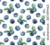 Watercolor Blueberry Pattern