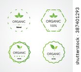 organic products  natural... | Shutterstock .eps vector #387401293
