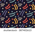 abstract dot and line pattern | Shutterstock . vector #387402613