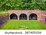the fortress in the italian... | Shutterstock . vector #387405334
