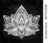 Vector Ornamental Lotus Flower...