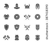 medieval armor icon set | Shutterstock .eps vector #387418390