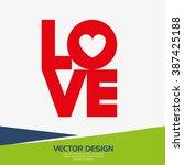 love card design  | Shutterstock .eps vector #387425188