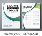 brochure design template vector.... | Shutterstock .eps vector #387436660