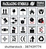 set of packaging symbols on... | Shutterstock .eps vector #387439774