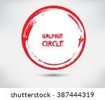 vector grunge circle. grunge... | Shutterstock .eps vector #387444319