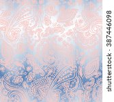 pastel paisley pattern on a... | Shutterstock .eps vector #387446098