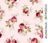 rose flower pattern | Shutterstock .eps vector #387453013