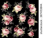 rose flower illustration | Shutterstock .eps vector #387453844