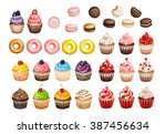 bakery and pastry products... | Shutterstock . vector #387456634