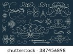 set vintage borders  frame and... | Shutterstock .eps vector #387456898