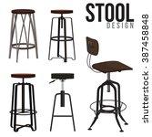interior of the bar stool | Shutterstock .eps vector #387458848