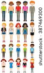 different characters man and... | Shutterstock .eps vector #387469300