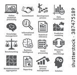 business management icons. pack ... | Shutterstock .eps vector #387475189