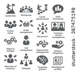 business management icons. pack ... | Shutterstock .eps vector #387475198