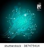 high tech tree   vector... | Shutterstock .eps vector #387475414