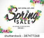 Spring Sale Banner  Sale Poste...
