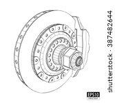 brake discs with calipers  ... | Shutterstock .eps vector #387482644