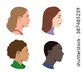 various races women profile... | Shutterstock .eps vector #387485239