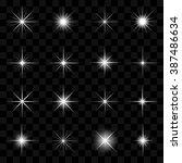 vector illustration of stars... | Shutterstock .eps vector #387486634