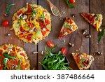 pizza  | Shutterstock . vector #387486664