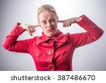 portrait young annoyed  unhappy ... | Shutterstock . vector #387486670