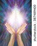 goddess healing energy   a pair ... | Shutterstock . vector #387489400