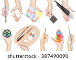 collection of painting... | Shutterstock . vector #387490090