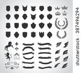 crests logo element set... | Shutterstock .eps vector #387496294