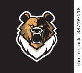 vector logo bear for game team. ... | Shutterstock .eps vector #387497518