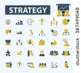 strategy icons  | Shutterstock .eps vector #387499048
