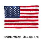 usa flag on white background | Shutterstock . vector #387501478