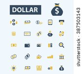 dollar icons  | Shutterstock .eps vector #387503143