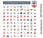 information technology icons  | Shutterstock .eps vector #387505543