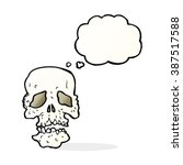 cartoon skull with thought...   Shutterstock .eps vector #387517588