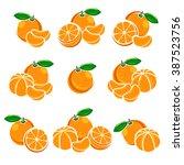 mandarin set. vector   Shutterstock .eps vector #387523756