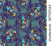 urban seamless pattern. vector... | Shutterstock .eps vector #387525163