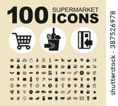 supermarket and shop icons.... | Shutterstock .eps vector #387526978
